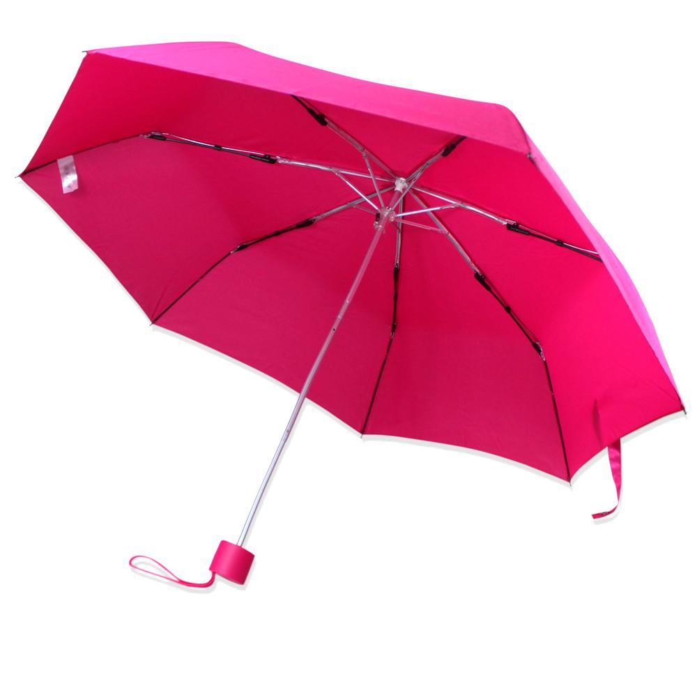 Зонт складной полуавтомат. малиновый. фото №1