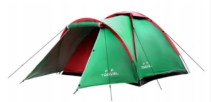 Туристическая палатка iglo 210x120см 2 + 1 фото №1