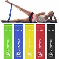Фитнес резинки для фитнеса u-powex из 5 лент и чехла фото №1