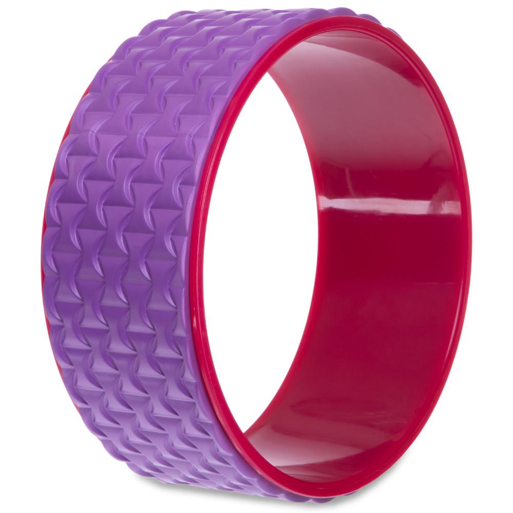 Колесо кольцо массажное для йоги fit wheel yoga 2437: размер 33см фото №1