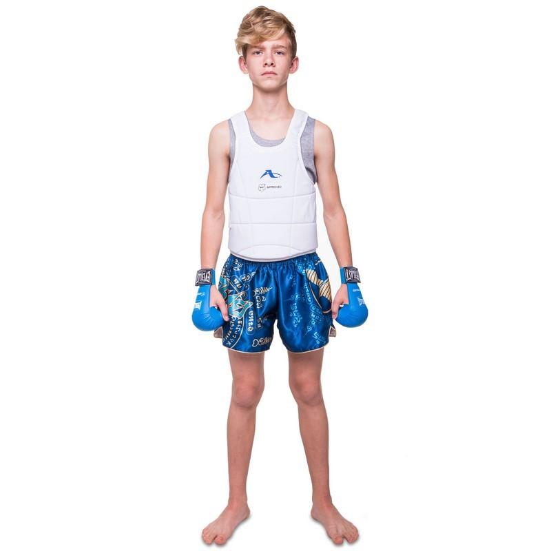 Жилет для единоборств детский для каратэ (защита корпуса) araza 0399: размер s-xl (8-16 лет) фото №1