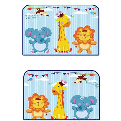 Защитная шторка для автомобиля. слон, жираф и лев. 2 шт. фото №1