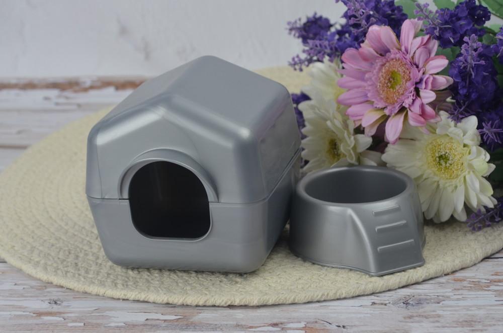 Набор для домашнего питомца домик и миска для маленьких грызунов фото №1