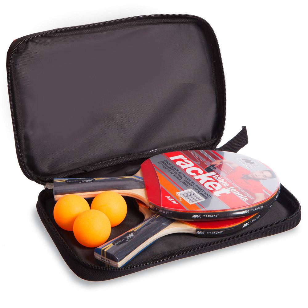Набор для настольного тенниса racket mk 8013 в чехле: 2 ракетки + 3 мяча фото №1