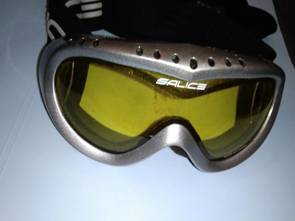 Фирменные детские горнолыжные очки маска salice фото №1