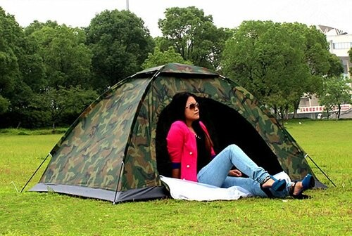 Палатка, комуфляжная, четырех, 4, местная, туристическая, рыбацкая, 200х200х150см, защитная, намет фото №1