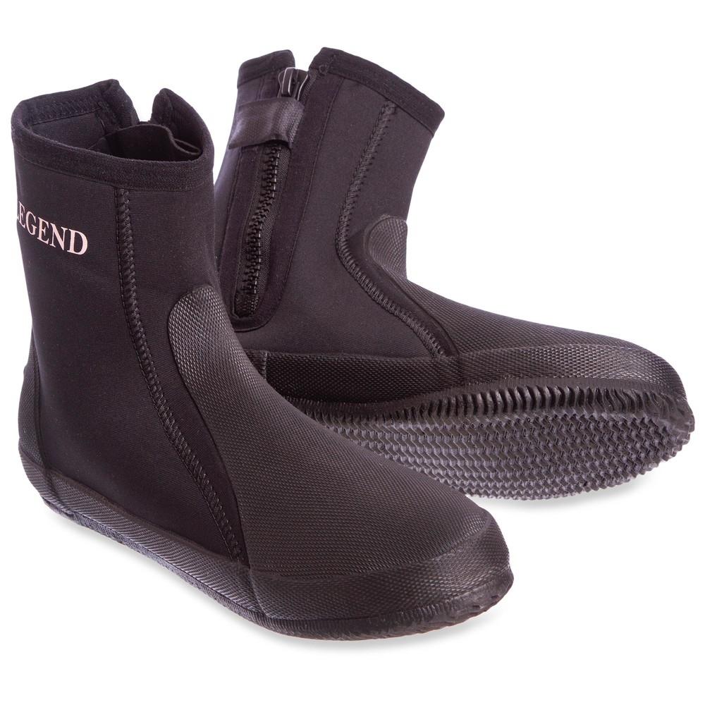 Ботинки для дайвинга legend dns0329: размер 40-46, неопрен + резина фото №1