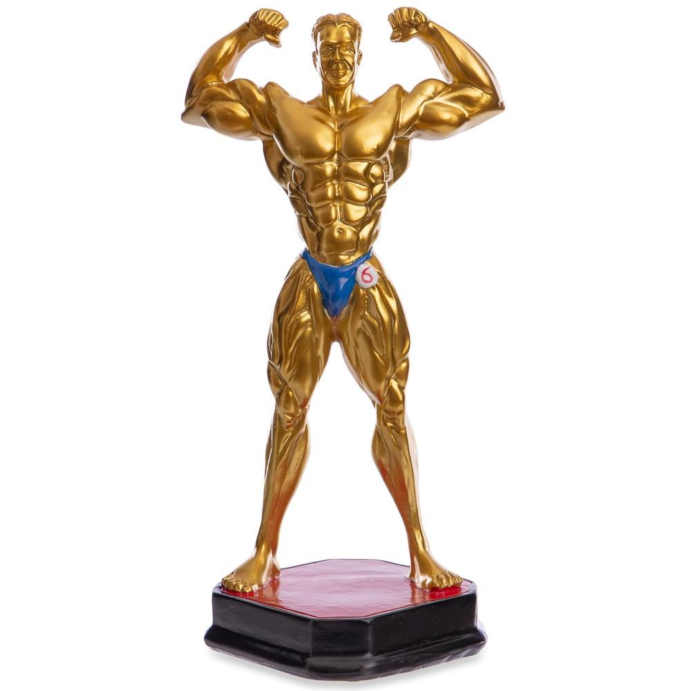 Награда спортивная бодибилдинг (статуэтка наградная бодибилдер) 2245-a5: 27 x 14 x 12см фото №1