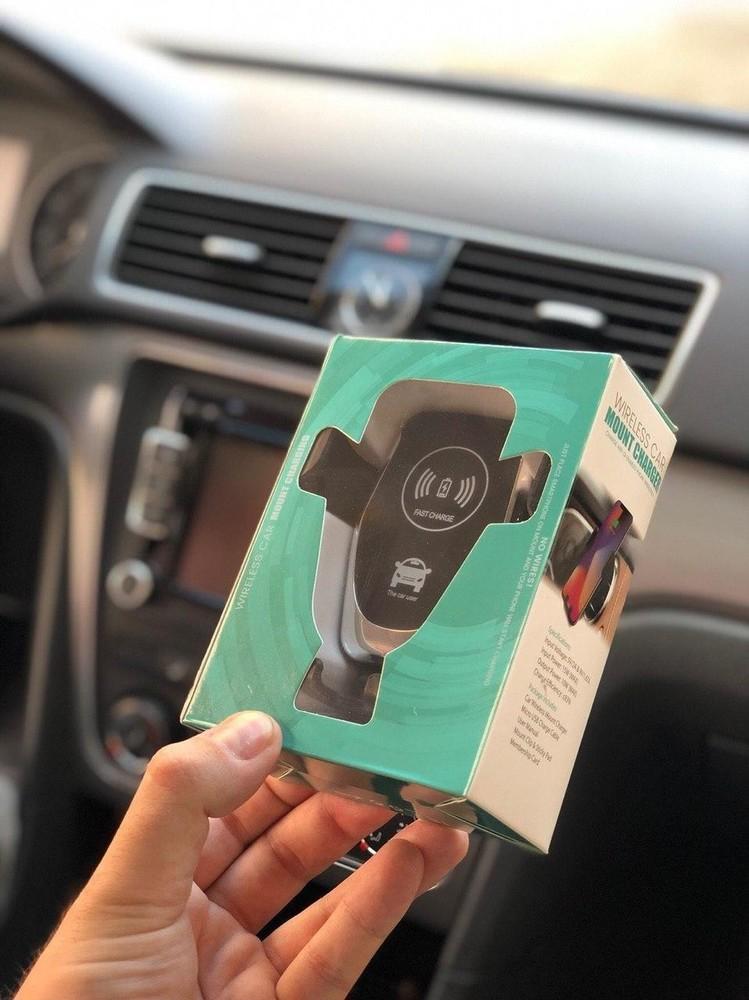 Беспроводная зарядка + держатель для телефона wireless car mount charger 2x100 hs -284 фото №1